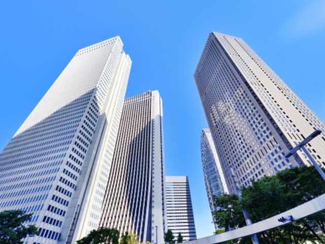 たくさんの高いビル